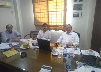 FOREIGN DELEGATION DURING INERVIEW